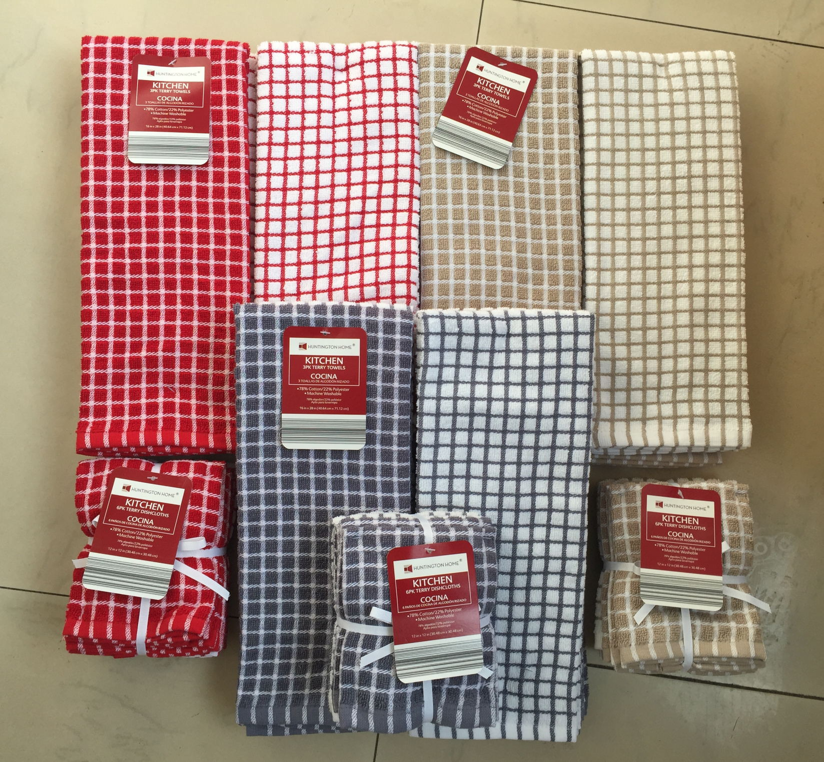 9pk Yarn Dye Plaid Kitchen Towel 16 28 100g3pk 12 32 5g 6pk Minimum Order 3000set Color This Set Is A Great Value Includes Nine Matching Dish